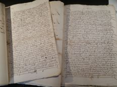 Manuscripts: lot of 2 Spanish deeds of land sale in La Rioja - 1523/1531