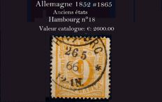 Germany: Old states: Hamburg 1864 - Michel no. 18.