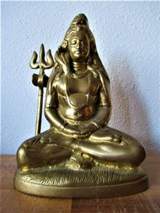 Copper Shiva - India - 2nd half 20th century (15.5 cm)