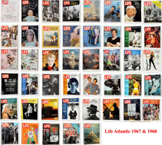 Magazines; Lot with 45 numbers of LIFE Atlantic - 1967/1968