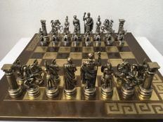 Large Chess set of Greeks and Romans (11.5 cm high)