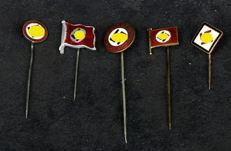 Lot 5x pins from the German Reich (5)