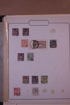 France and territories around 1860/1970 - Batch in 3 stock books and old blank sheets