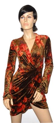 Emporio Armani - stunning velvet draped dress with floral pattern