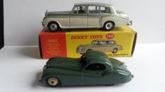 Dinky Toys - Scale 1/43 - Rolls-Royce No.198 and Jaguar No.157