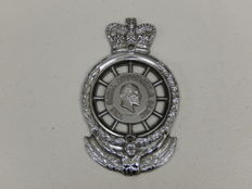 Vintage 1949 -  1953 Chrome King Edward VII The Royal Automobile Club RAC Auto Badge 12 cms high x 7.5 cm wide