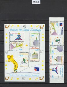 France 1998/2000 - Selection of individual stamps, stamp books and sheet blocks - between Yvert BF 20 and 32 and between Yvert 3179 and 3365A.