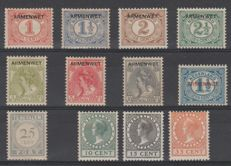 The Netherlands 1906/1924 - Official Mail Service Stamps, Postage Due and Exhibition - NVPH D1/D8, P59, 136/138