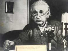 Unknown/Keystone - Professor Albert Einstein, NBC interview The H-Bomb, 1950