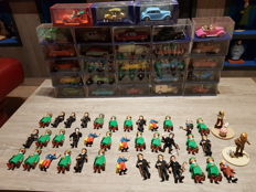 Hergé - 28x voitures Atlas + 2x figurines Moulinsart + 37x figurines Plastoy / Comic Spain - (1980-2008)