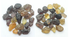 Natural Yellow Brown Zircon Rough Lot - 5.0--11.0 mm - 101.10 Ct. (42)