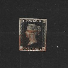 Queen Victoria 1840 - 1d Black Stanley Gibbons 3