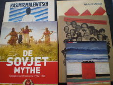 Kazimir Malevich; Lot with 3 publications and 2 other books on Russian art - 1980 / 2012