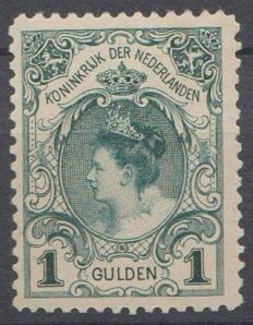 The Netherlands 1898 - Coronation guilder - NVPH 49, with inspection certificate
