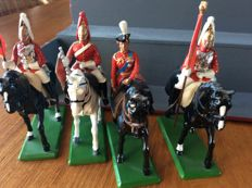 Collection of Britains horsemen and soldiers and other figures
