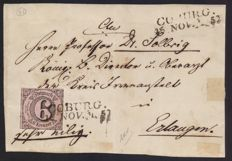 Thurn und Taxis 1852 – 16/11/1852 Coburg cancelled in block capitals only
