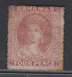 Bahamas 1861 - 4d. Light pink, perforated 14 to 16 Stanley Gibbons 5