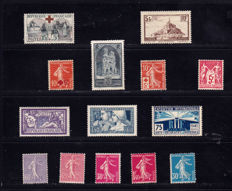 France 1914/1931 – Selection of 14 stamps – between Yvert 146 an 260