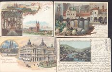 Germany,169x; old and very old village and city views-including Lithographs