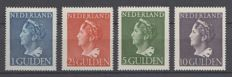 The Netherlands 1946 - Queen Wilhelmina 'Konijnenburg'- NVPH 346/349, with inspection-attest.