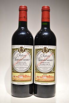 2000 Chateau Rauzan Gassies, Margaux Grand Cru Classé - 2 bottles