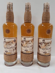 3 bottles of Rum Vanûa  from the Fiji Islands Aged Rum