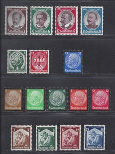 German Empire 1934/1935 - Various issues - Michel 540/543, 544/545, 548/553 + 565/568