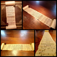 India; Astrology manuscript roll in Sanskrit - 1800s