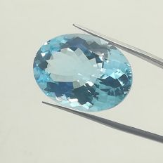 Swiss blue topaz 27.20 ct