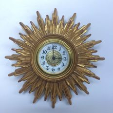 Sunburst Quartz all clock - 1960s - Germany