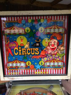 bally circus pinball machine 1973