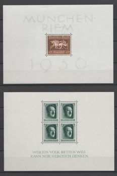 German Empire 1936/1937 - Selection of blocks - Michel 4x, 7, 8, 10, 11