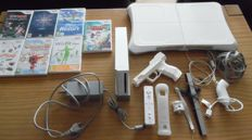 Wii including motion plus + wii fit board + 7 games with manual  en more