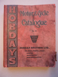 Motor & Cycle Cataloque No 94 - Hobday Brothers , 1933/34
