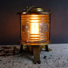 Brass Ship lamp - NV Industria Rotterdam - Made in Holland - 2nd half of 20th century