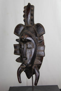 Poro beautiful lady mask - SENUFO - Ivory Coast