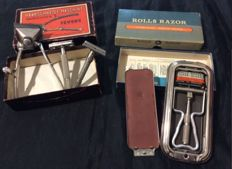 Lot of hair clippers and razors