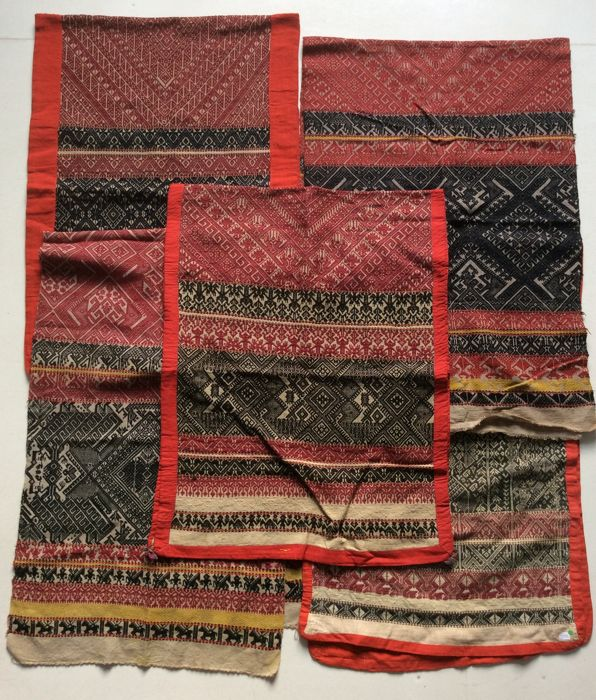 Collection of 5 Blankets - Laos - mid 20th Century