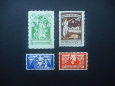 The Netherlands 1916/1923 - Internment stamps and Toorop stamps