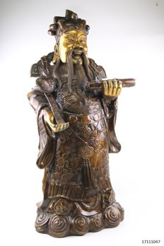 Large bronze Lu Xing - China - late 20th century (60 cm)