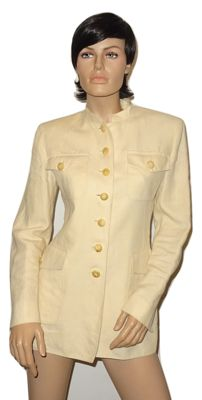 Hermes - Beautifully tailored blazer in cream–coloured linen