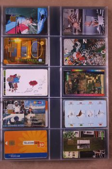 World - collection of phone cards in 6 albums in box