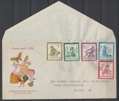 The Netherlands 1950 - FDC Child stamps - NVPH E4, with inspection certificate