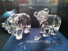 Swarovski - Sister bear and Grizzly cub with fish in his mount.