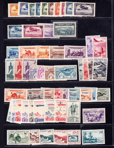Morocco - French Offices 1891/1955 - Extensive collection with Airmail, Tangier, Postal Package and Postage Due