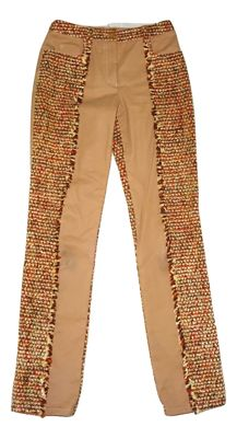 Chanel - beautiful pristine trousers with 2 materials