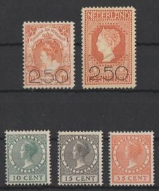 The Netherlands 1920/1924 - clearance sale and exhibition - NVPH 104/105 + 136/138