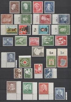 Federal Republic of Germany 1951/1953 - Selection 1950s - Michel 143/146, 149/160, 162, 164/176