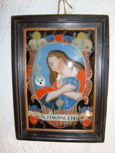 Reverse glass painting - Germany - 19th century