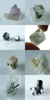 Little Collection with Minerals from Pakistan - max. 5,3 x 2,0 x 1,6 cm - 91,91 gm (8)